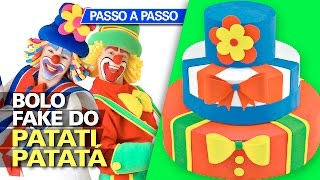 Video de Bolo decorado fake do Patati Patatá