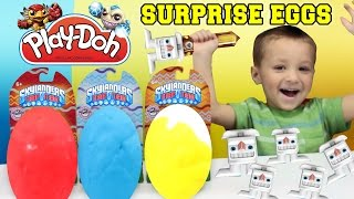 Easter Skylanders Play Doh SURPRISE EGGS! Trap Team Bunny, Eggsellent Weeruptor, Power Punch Pet Vac