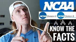 What Is The Difference Between NCAA D1, D2, D3?   VLOG 50