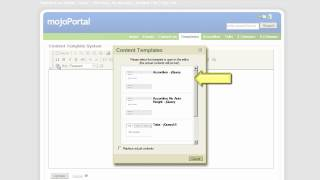 How to use content templates with FCKeditor