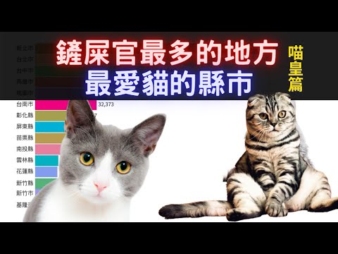 鏟屎官最多的地方 喵皇篇   最喜歡貓的縣市  喵皇最多的縣市 2003~2019