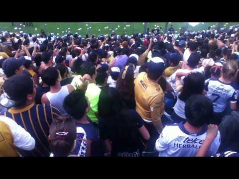 """""""Cruz Azul vs Pumas 26/04/2014 La Rebel Pasos al costado"""" Barra: La Rebel • Club: Pumas"""