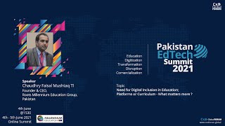 Need for Digital Inclusion in Education by Faisal Mushtaq