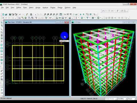 10 storied building Modeling using ETABS (modeling using existing structure)