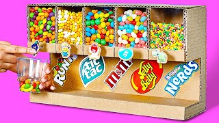 HOW TO BUILD A CANDY MACHINE || 2 Ways to Build a Candy Dispenser