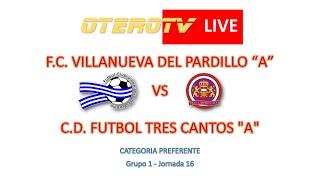 R.F.F.M. - Jornada 16 - Preferente Aficionado (Grupo 1): F.C. Villanueva del Pardillo 1-0 C.D. Fútbol Tres Cantos.