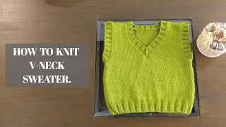 How to knit a Sweater for Children, step by step (part 1) By Clydknits.With english subtitles.