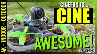 CINE-AWESOME! - 4K EACHINE CINEFUN Drone Whoop - FULL REVIEW & FLIGHTS ????????????