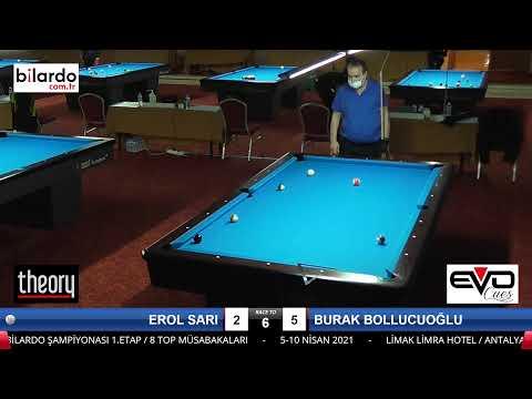 EROL SARI & BURAK BOLLUCUOĞLU Bilardo Maçı -