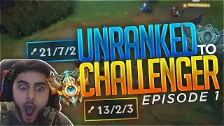 Yassuo | UNRANKED TO CHALLENGER IN ONE WEEK | Episode 1