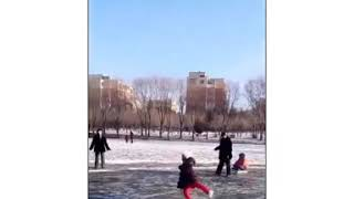 Here is what walking on thin ice looks like