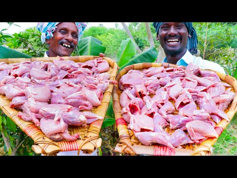 QUAIL FRY | ANGRY BIRDS FRY | Villagers Cooking Kaadai Fry Street Food Recipe | Village Food Recipe