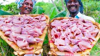 QUAIL FRY | ANGRY BIRDS FRY | Villagers Cooking Kaadai Fry Street Food Recipe | Village Food Recipe