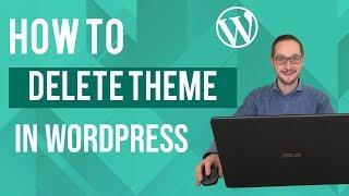 Thema verwijderen in WordPress Tutorial