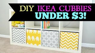 DIY Ikea Cubbies For Under $3!