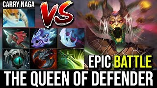 The Queen of Defender [Medusa] IMBA Insane Split Shot Vs Hard Carry Naga 7.20e Epic Battle Dota 2
