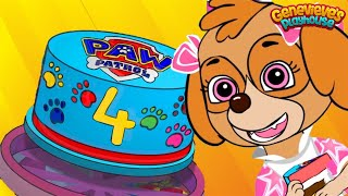 Paw Patrol Skyes Birthday & Cooking Contest Animations For Kids!