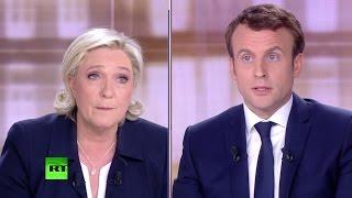 Во Франции прошёл финальный раунд дебатов между Ле Пен и Макроном