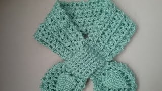 "Шарф ""Бабочка"" крючком / How to tie a scarf"