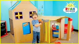 Giant Box Fort Challenge with Ryan and Gus!