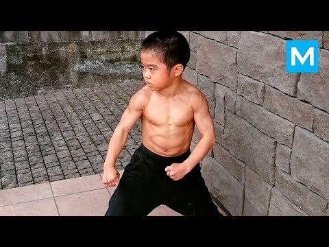 Little Dragon - Baby BRUCE LEE - Ryusei Imai   Muscle Madness