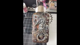 Steampunk Flasche