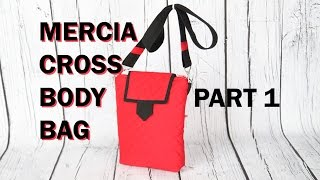 Mercia Cross Body Messenger Bag - Quilted With Zip Closure /DIY Bag VOL 28a