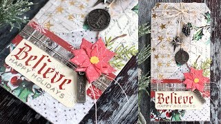 Christmas Tag: Layers With Tim Holtz Ideaology