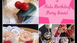 3 Easy Kids Party Food Ideas - Snake Sandwiches, Wrap Popsicles, Choco-mallow Lollies