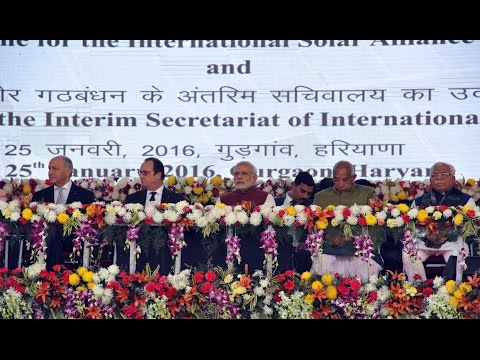 PM Modi and President Hollande to inaugurate International Solar Alliance Secretariat in Gurgaon
