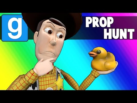 Gmod Prop Hunt Funny Moments - Rubber Duckies & Bullet Ploof Grass! (Garry's Mod)