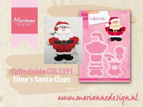 Eline's Santa Claus Collectable COL1391 | Marianne Design Cardmaking & Die Cutting