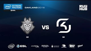 IEM Oakland - G2 Esports vs SK Gaming - map1 - de_nuke - [CrystalMay, ceh9]
