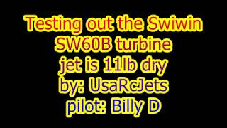 Showing off the power of the Swiwin SW60B turbine.