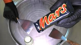 MARS Ice Cream Rolls | how to make Ice Cream with Mars Chocolate Bar / Fried rolled ice cream | ASMR