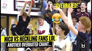 Nico Mannion SILENCES Heckling Fans!! 1st Game After McDonald's All American Selection!!