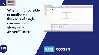 FAQ 003294 | Why is it not possible to modify the thickness of single cross-section elements in SHAPE‑THIN?