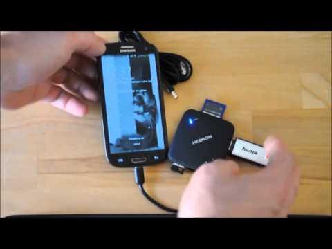 Test: OTG HUB Connection Kit mit 3x USB 2 0 , SDHC, TF Kartenleser 7 in 1