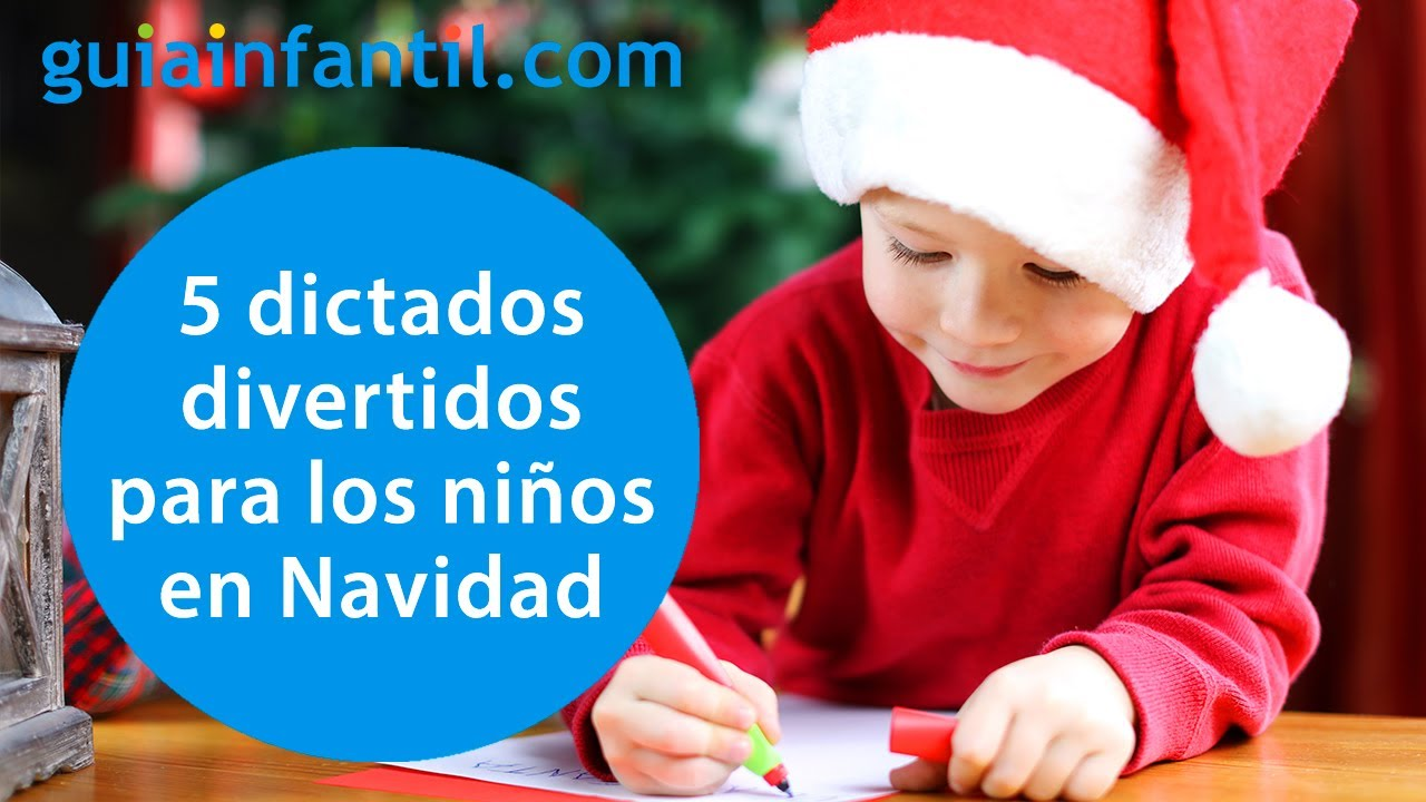 5 dictados cortos y divertidos para niños en Navidad | Ortografía y gramática fácil