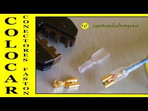 COMO COLOCAR CONECTORES FASTON (con herramienta especifica)