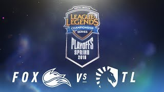 FOX vs. TL  | NA LCS Spring Playoffs | Semifinals Game 1 | Echo Fox vs. Team Liquid (2018)