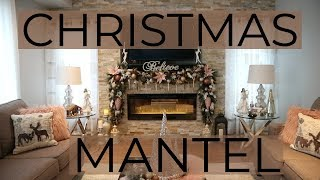 How To Decorate A Mantel For Christmas/ DIY Christmas Mantel