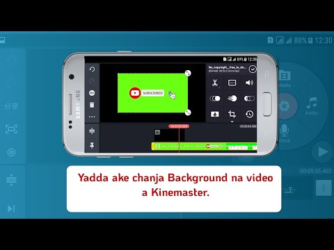 Yadda ake Chanja Background na video a Kinemaster