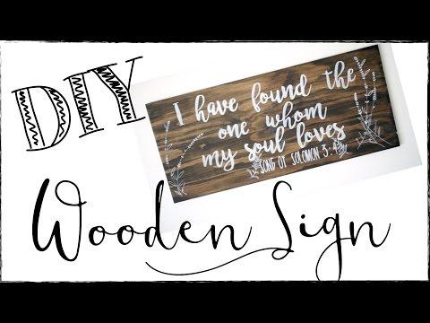 DIY WOODEN SIGN! DIY HOME DECOR IDEA!