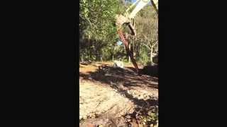 How to bend steel I-Beam with Excavator demolition!