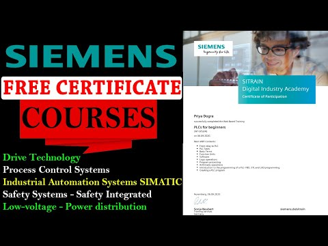 Siemens FREE Online Courses with Certificate - PLC and ...