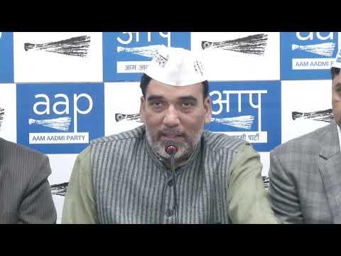 AAP Delhi Convenor Gopal Rai Introduces OBC , RWA Doctors and Gramin Morcha Frontals