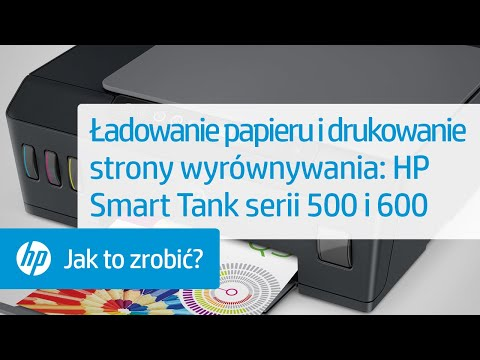 Ładowanie papieru i drukowanie strony wyrównywania w drukarkach HP Smart Tank serii 500 i 600