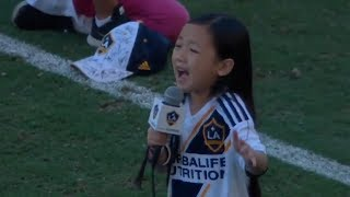 7-Year-Old's Rendition of National Anthem Will Give You Goosebumps