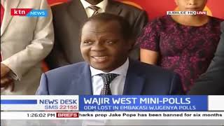 Tuju reveals Jubilee, ODM parties consulted over latter's pull out in Wajir West by-election